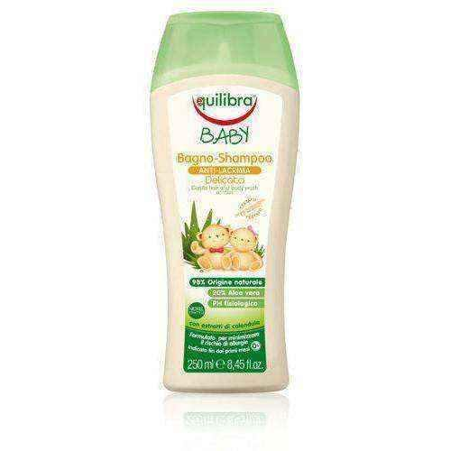 EQUILIBRA baby shampoo for hair and body 250ml UK