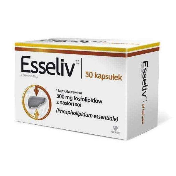 ESSELIV x 50 capsules, liver disease symptoms - ELIVERA UK, England, Britain, Review, Buy