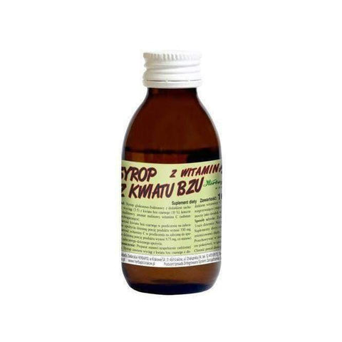 Elderberry flower syrup with vitamin C 100ml support the treatment of flu or colds