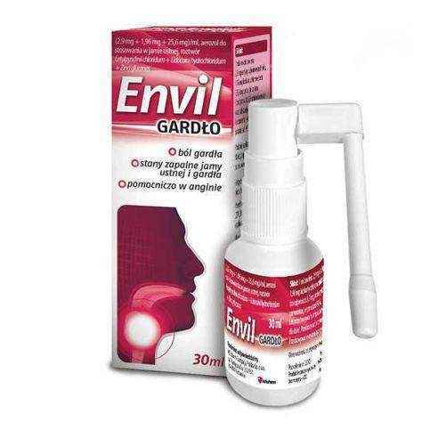 Envil throat spray orally 30ml, sore throat spray