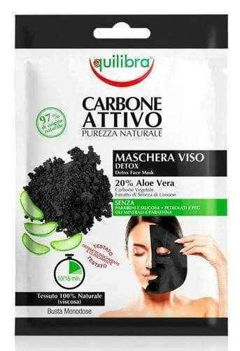 Equilibra Cleansing face mask with activated carbon x 1 piece