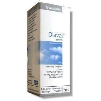Extra DIAVAL drops 50ml positive impact on the regulation of blood sugar levels
