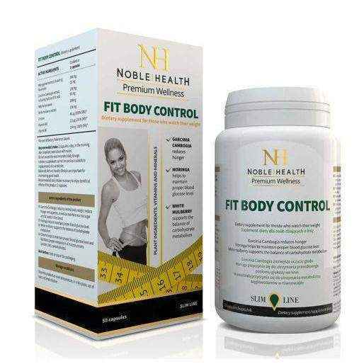 FIT BODY CONTROL Noble Health x 50 capsules, gym workout, weight loss programs