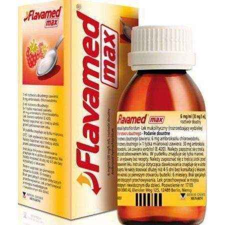 FLAVAMED Max syrup 100ml 12+ symptoms of sinus infection - ELIVERA UK, England, Britain, Review, Buy