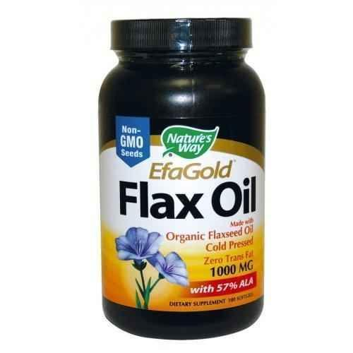 FLAX OIL 1,000 mg. 100 capsules UK