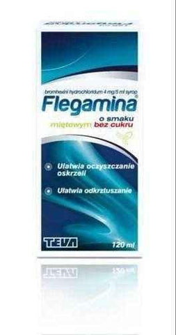 FLEGAMINA mint without sugar syrup 120ml