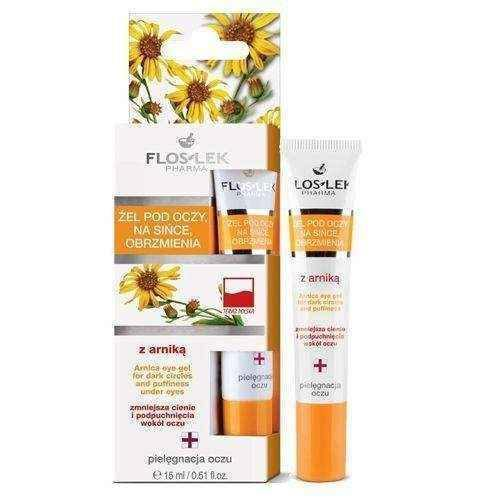 FLOSLEK Eye Gel for the bruising and swelling with arnica 15ml UK