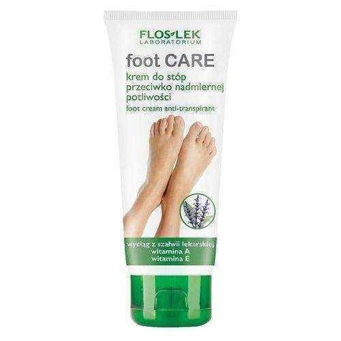 FLOSLEK Foot Cream against hyperhidrosis with extracts of sage 100ml