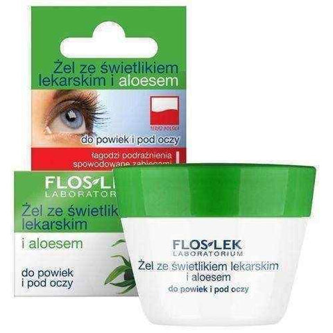 FLOSLEK Gel for eyelids and under the eyes with a skylight and aloe 10g