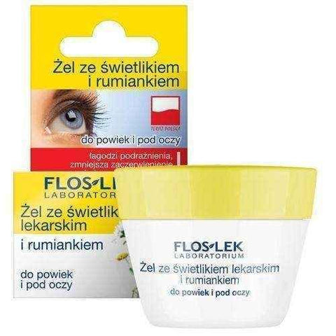 FLOSLEK Gel for eyelids and under the eyes with a skylight and camomile 10g