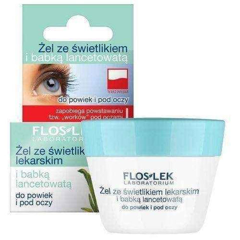 FLOSLEK Gel for eyelids and under the eyes with a skylight and plantain 10g