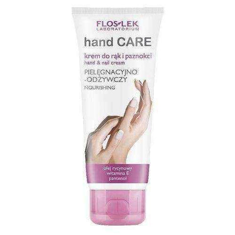 FLOSLEK cream nursing and nourishing for hands and nails with castor oil 100ml