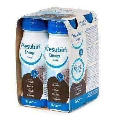 FRESUBIN ENERGY DRINK chocolate flavor 4 x 200ml - ELIVERA UK USA BUY, PRICE, REVIEWS