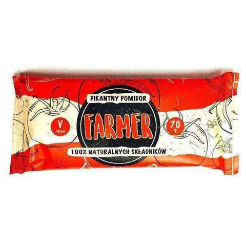 Farmer spicy tomato baton 100% natural ingredients 70g, vegan snacks