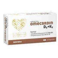 Fat soluble vitamins, Vitamin E, D and K ,  Omecardin D3 + K2 x 30 capsules