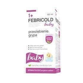 Febricold baby 1+ syrup 100ml alleviate the symptoms of a cold or flu.