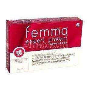 Femme Expert Protect x 60 capsules vagina bacterial infection - ELIVERA UK, England, Britain, Review, Buy