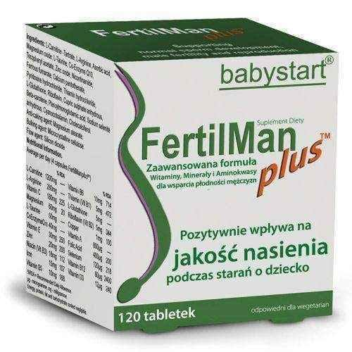 Fertilman (Fertimen) Plus x 120 tablets, male infertility UK