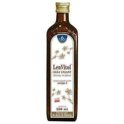 Flaxseed oil LENVITOL cold pressed 500ml.