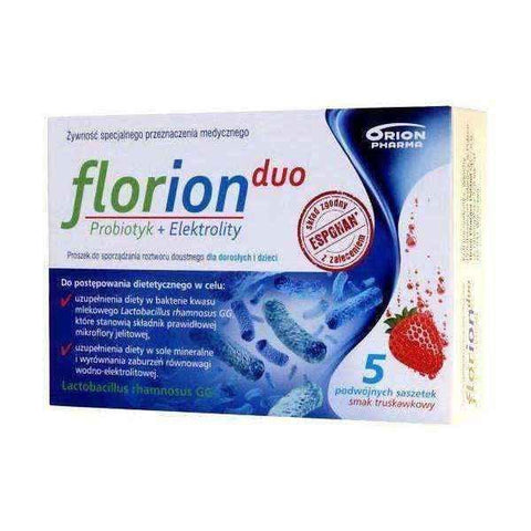 Florion Duo Probiotic + Electrolytes x 5 servings of 6.4g (10 sachets) UK