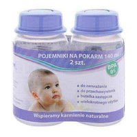 Food containers, The container for food 140ml x 2 pieces, baby bottles.
