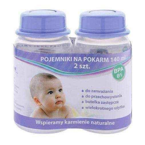 Food containers, The container for food 140ml x 2 pieces, baby bottles UK