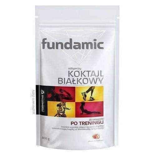 Fundamic nutritious protein shakes with strawberry flavor 300g.