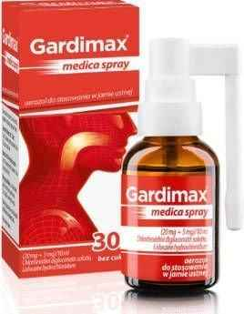 GARDIMAX MEDICA Spray 30ml, Children from 30 months+ throat infection.