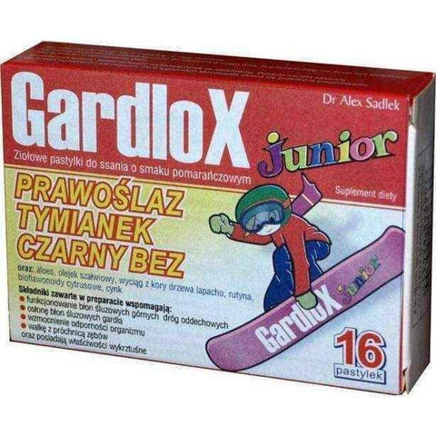 GARDLOX JUNIOR x 16 lozenges orange flavor