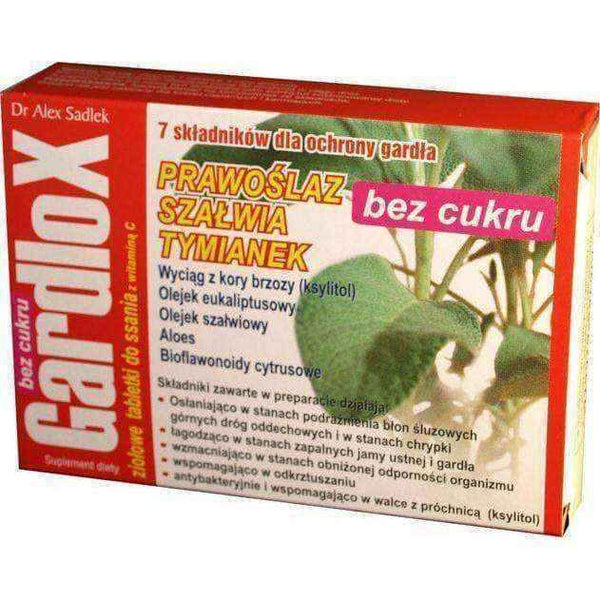 GARDLOX x 16 lozenges herbal sugar