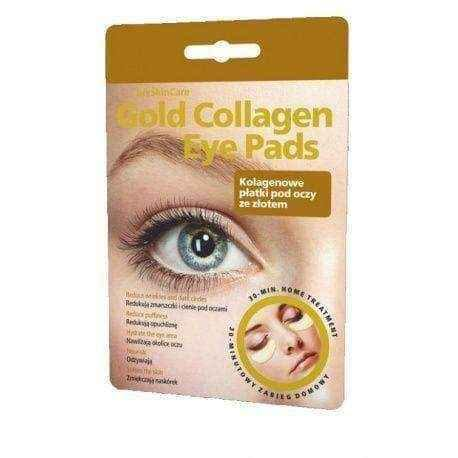 GLYSKINCARE Gold Collagen Eye pads - collagen flakes eye with gold x 1 set.