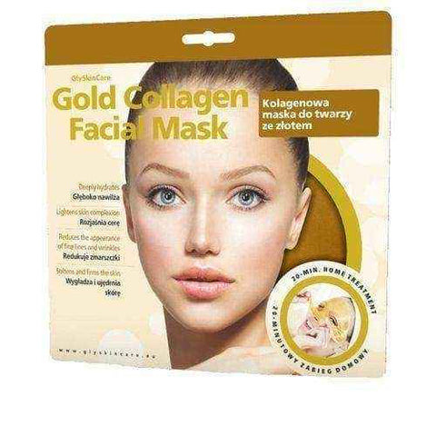 GLYSKINCARE Gold Collagen Facial Mask - collagen mask with gold facial x 1 piece