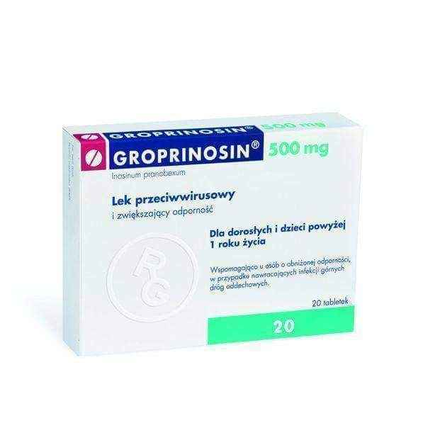 GROPRINOSIN 20 x 0.5g tablets, herpes treatment, herpes simplex treatment