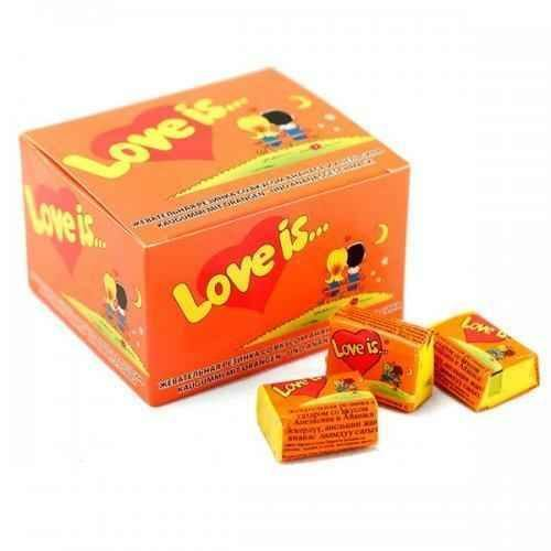 GUM LOVE IS Pineapple and Orange box 100 chewing gum.