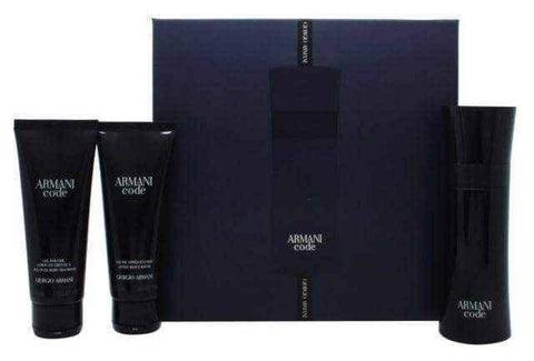 Giorgio Armani Code Gift Set 75ml EDT + 75ml Aftershave Balm + 75ml Shower Gel