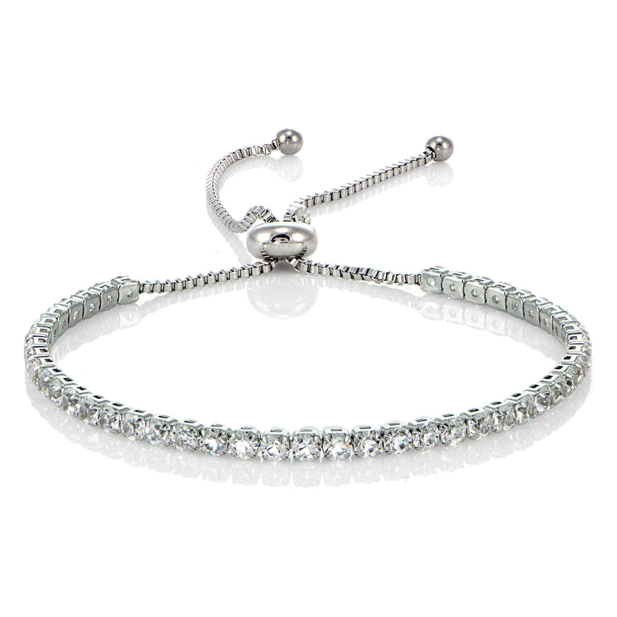 infinity slider palmbeach products charm cross cfm horizontal in pave silver bracelet tcw jewelry cubic detail zirconia at adjustable sterling heart