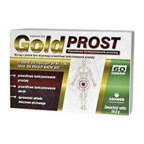 Gold Prost x 60 tablets, prostate enlargement - ELIVERA UK, England, Britain, Review, Buy