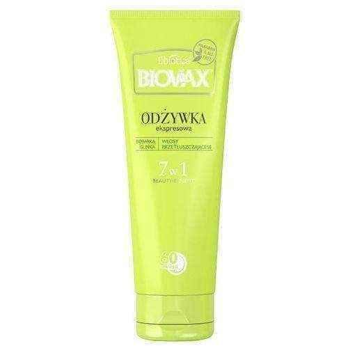 Greasy hair BIOVAX BB conditioner 60 seconds for greasy hair 200ml UK
