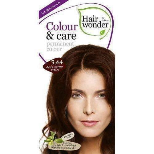 HAIRWONDER Colour & Care Hair dye 3.44 Dark copper brown 100ml coloring and a recipe for getting a beautiful, unique colors