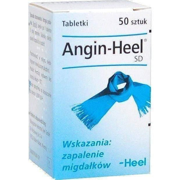 HEEL Angin SD x 50 tablets - tonsillitis and throat, pivots on almonds. UK