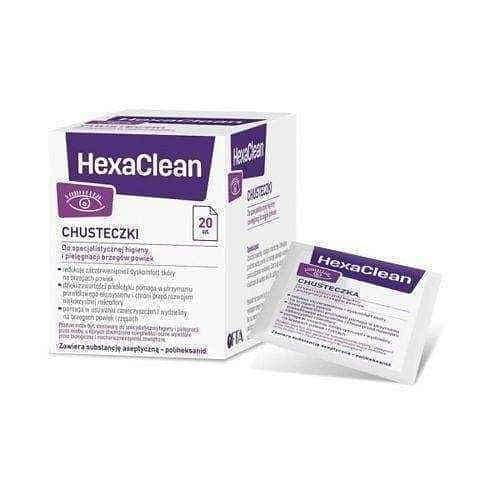 HEXACLEAN wipes to specialized health care and blepharitis x 20 pieces