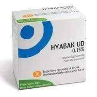 HYABAK UD 15% eye drops 0.4 ml x 30 pieces, dry eye treatment.