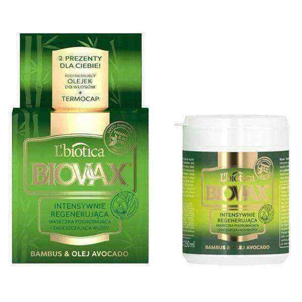 Hair care BIOVAX Intensively regenerating mask Bamboo and Avocado 250ml.