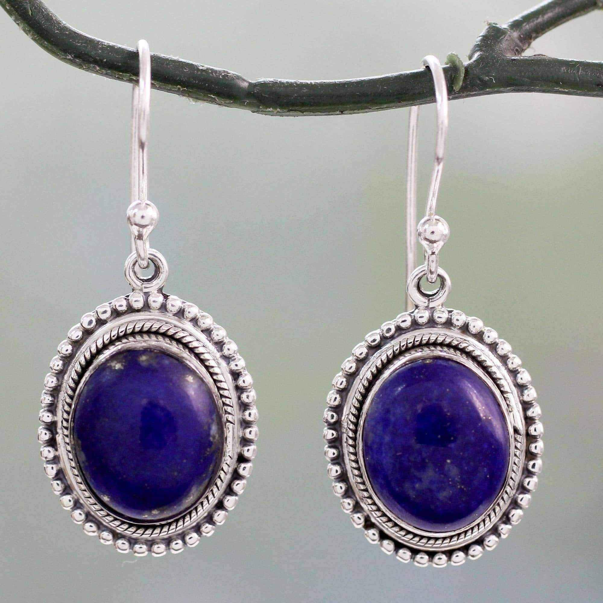 jewellery lazuli dsc tops and round product stud handmade silver earrings daira lapis noqra