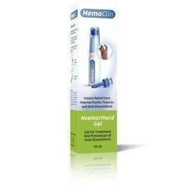 HemoClin Gel 45ml Fissures and Anal Discomfort, Relief from Hemorrhoids.