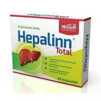 Hepalinn Total x 45 capsules the functioning of the liver and gastrointestinal tract.