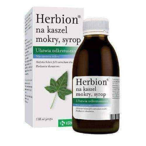 Herbion TO COUGH WET syrup 150ml, wet cough children 2 years+.