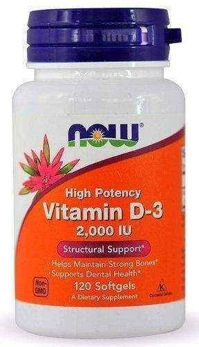 High Potency Vitamin D3 2000 x 120 softgels capsules - ELIVERA