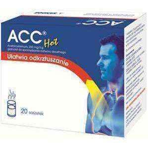 Acetylcysteine, Hot ACC 200 mg / 3g x 20 sachets - ELIVERA UK, Reviews, Buy Online