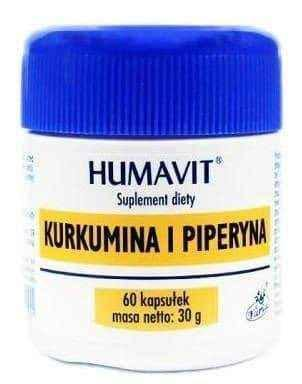 Humavit Curcumin and Piperine x 60 capsules